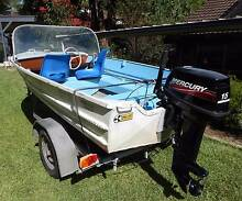 Brooker V12 with 15HP Mercury and galvanised trailer Hornsby Hornsby Area Preview