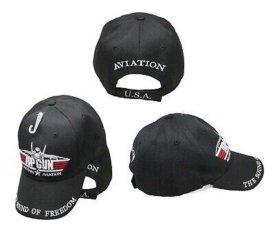 Top Gun Military Aviation The Sound of Freedom Black Baseball Hat Cap Acrylic - Top Gun Hat