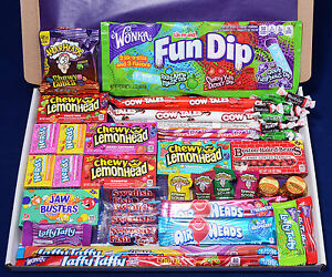 50 Item American Candy Gift Box - Christmas Present - Hamper - Wonka Laffy Taffy