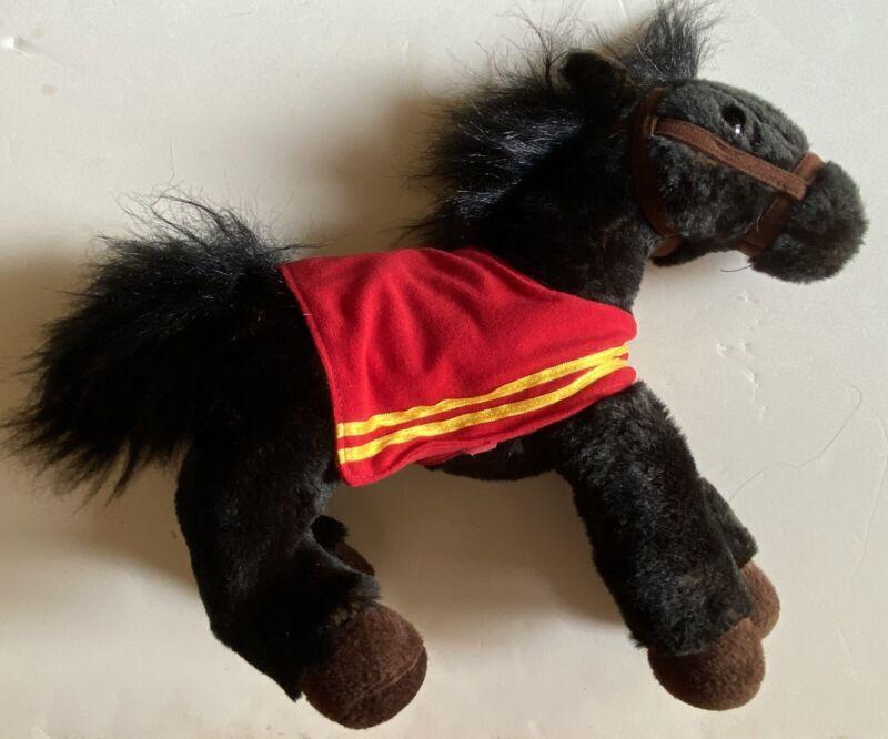"Mike 2016 Wells Fargo Horse Plush Pony 14"" Plush Toy Black New Stuffed Soft"