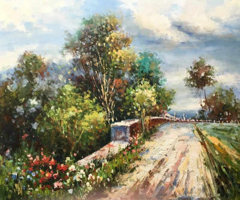 Country+Road%2COriginal+Oil+Painting+by+R.+Cook%2C+51+X+61cm
