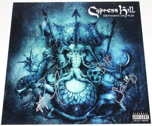 CYPRESS HILL SIGNED 'ELEPHANTS ON ACID' 12x12 ALBUM FLAT PHOTO w/COA HIP HOP X3