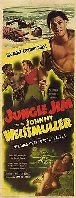 JUNGLE JIM Movie POSTER 14x36 Insert