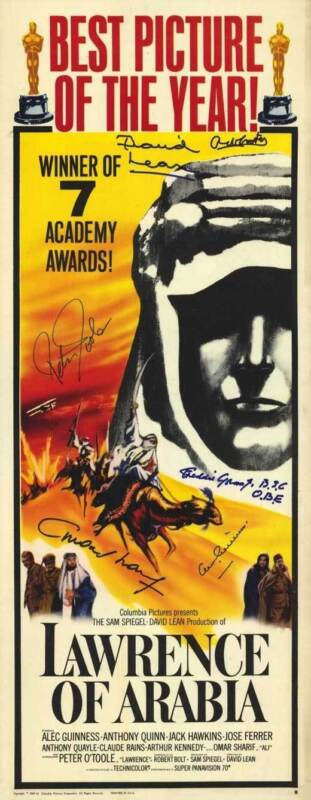 LAWRENCE OF ARABIA Movie POSTER 14x36 Insert Peter O