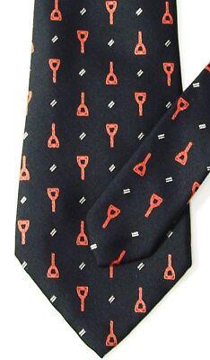 Vintage GUCCI Italy Beautiful Equestrian Black !00% Silk Men's Tie