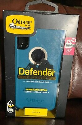 OtterBox Defender Rugged Protection Teal Case for Apple iPhone X OR BEST