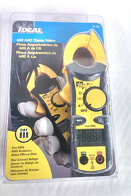Ideal 400 Aac Clamp Meter 61-736 True Rms Non-contact Voltage New