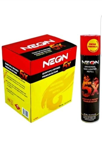 Купить NEON - 1 can neon 5x  ref Gas Refill Butane Fluid Fuel Ultra Refined 300ml  10.14 Oz