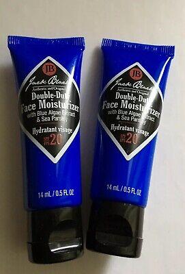 Jack Black Double Duty Face Moisturiser 14 ml x 2 BN