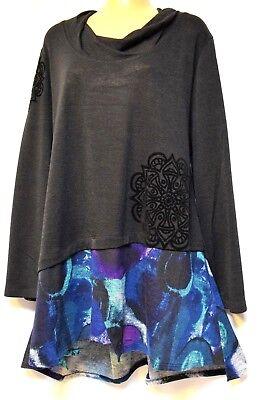 TS top TAKING SHAPE plus sz M / 18 - 20 Utopia Tunic light knit L/S NWT rp$120!