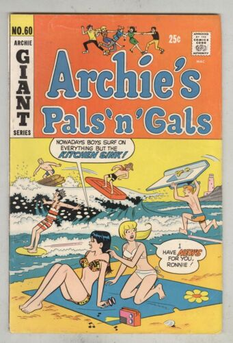 Archie's Pals 'N' Gals #60 October 1970 VG Giant size