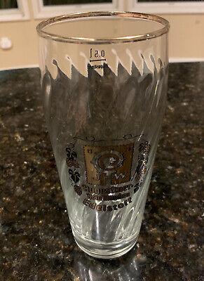 Augustiner Brau Mundhen Edelstoff  0.5L German Beer Glass & Gold Trim