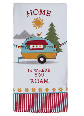 Kay Dee Designs HOME is WHERE YOU ROAM Cotton Terry Towel Camping