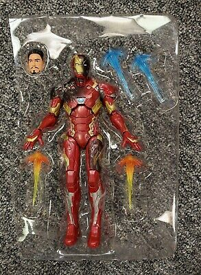 "Battle Damaged Iron Man Marvel Legends 6"" Inch 3-Pack Captain America Civil War"