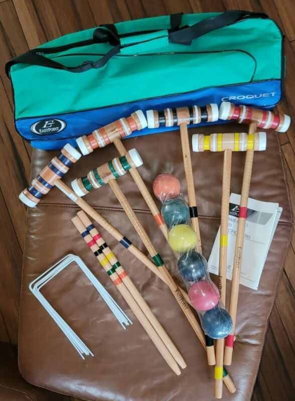 Brand New EastPoint Sports 6-Player Croquet Set With Carry Case/Bag Instructions