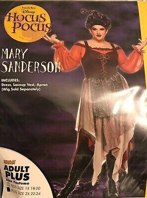 Plus Size 24 Halloween Costumes (Disney HOCUS POCUS Costume Mary Sanderson Plus Size 2X 22-24 Halloween)