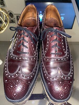Church's Men's Shoes 9.5 D Leather Cap Toe Cordovan Brogue Dress England 8.5 UK