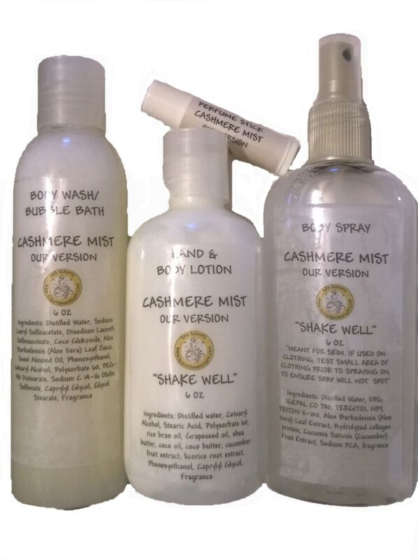 Body Lotion, Spray & Wash Set Scented 300+ Scents Our Picks - U Pick Scent