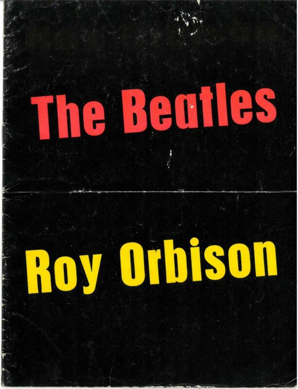 The Beatles/Roy Orbison 1963 UK Tour Program