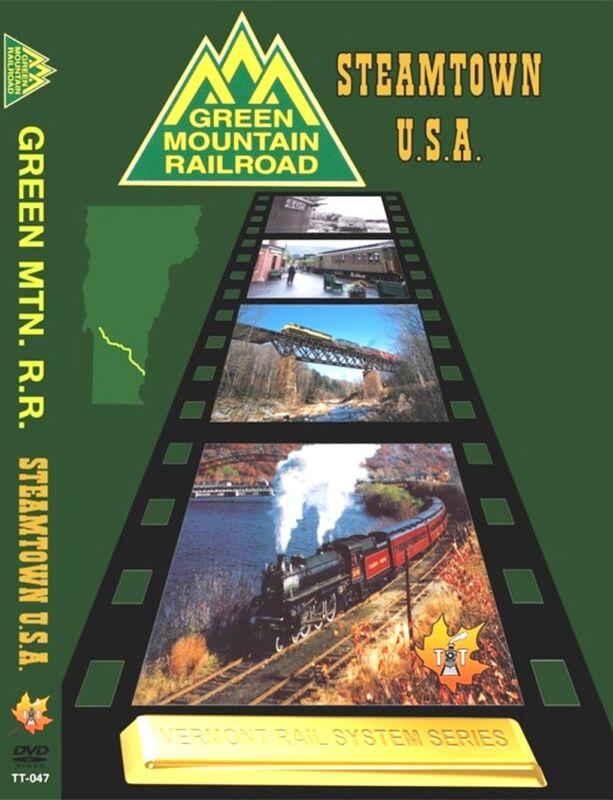 GREEN MOUNTAIN RAILROAD & STEAMTOWN NEW TELL TALE DVD VIDEO