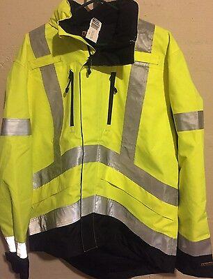 Blaklader Hi-Vis Soft Shell Reflective Rain Gear Jacket 4937 Large