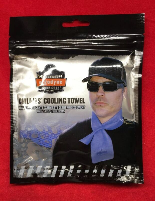 Ergodyne chill Its Reusable Washable Sport Work Cooling Neck Wrap Chill-its 6603
