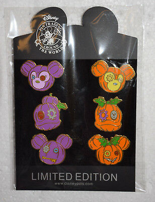 Pumpkin Halloween Tsum Tsum Disney 6 pin lot set pack Shelly Duffy Daisy Mickey