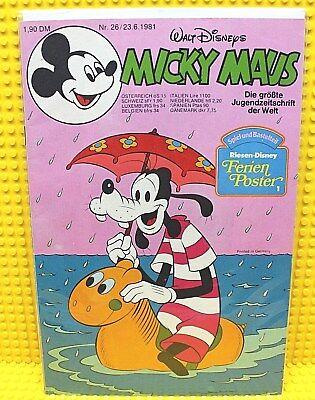 Walt Disney® Micky Maus Nr 26 von 1981 mit Schnipp und Beilage