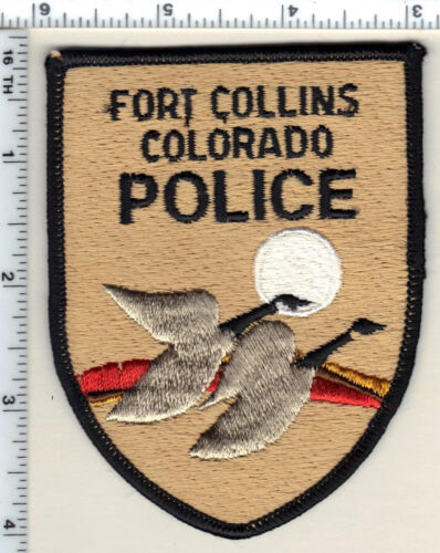 Fort Collins Police (Colorado) 2nd Issue Shoulder Patch - new from 1989