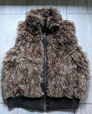 DOLLHOUSE OUTERWEAR Faux Fur Woman's Medium Jacket Wrap Coat Sexy Cute Comfy