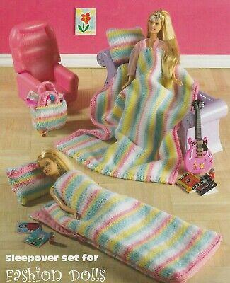 "[65] Knitting Pattern doll fashion clothes 11"" DK Barbie Teenage Sindy sleepover"