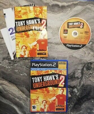TONY HAWK'S UNDERGROUND 2 PS2 PlayStation 2 GAME - TESTED - FREE POST