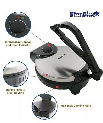 10inch Roti Tortilla Maker by StarBlue Non-stick  automatic Stainless...
