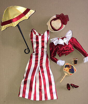 c1915 GIBSON GIRL Red & White SUMMER Beach Barbie 1:6✨NEW*DeBOXED✨Doll FASHION👗