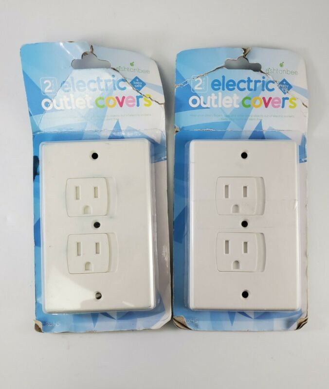 Child Safety Electrical Outlet Covers for Baby Proofing Set of 4, White