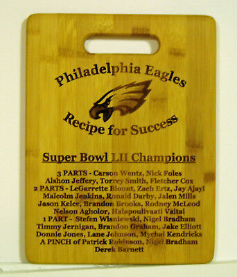 Philadelphia Eagles Super Bowl Lii Champions Recipe For Success Cutting Board