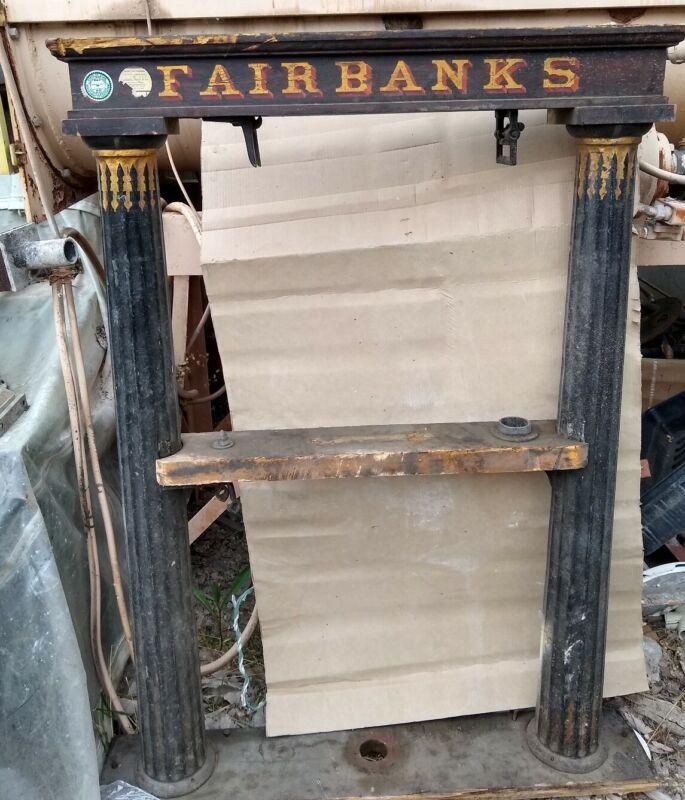 Vintage Antique Fairbanks flush platform scale (not complete)