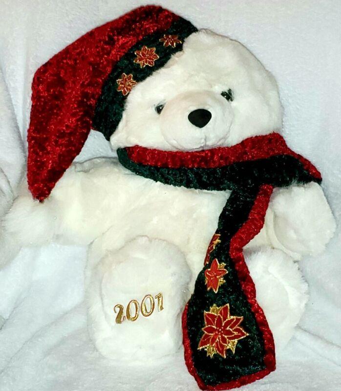 """2001 Kmart CHRISTMAS TEDDY BEAR 20"""""""
