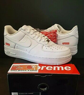 DS NIKE AIR FORCE 1 SUPREME WHITE SIZE 8.5 W/ RECEIPT & FREE PRIORITY DAY SHIP