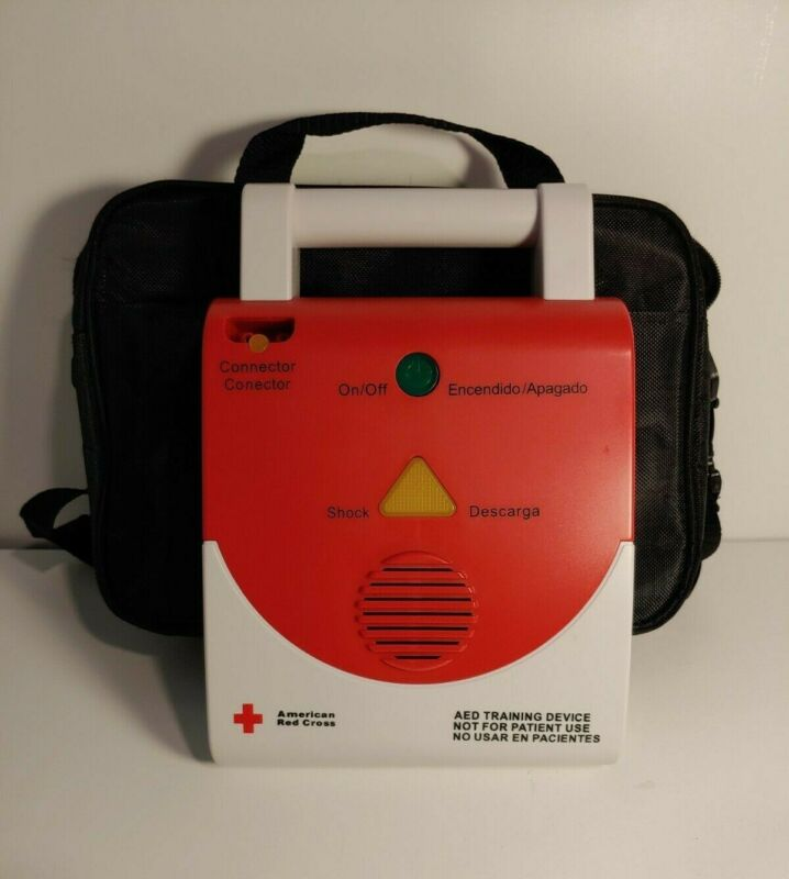 NEW Red Cross AED Trainer With Bag English & Spanish (Square Model)