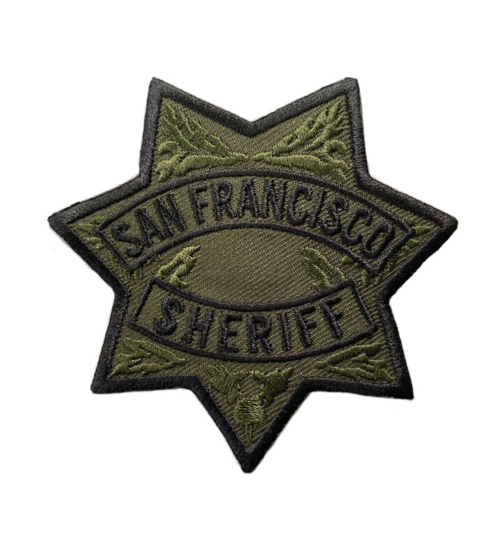 San Francisco Sheriff Department Subdued SWAT Patch California Police Unused