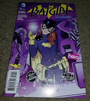 New 52 Costumes (DC Comic Batgirl 35 NM- Rare Htf Variant Book Purple New 52 1st New Costume)