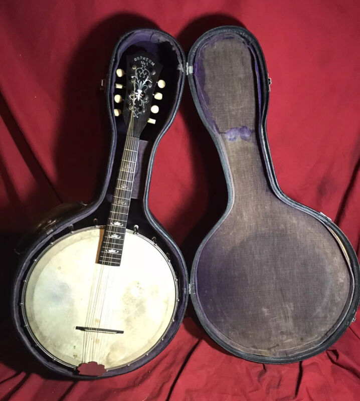 Rare Vintage Orpheum #1 8-String Mandolin Banjo Banjolin w/Case