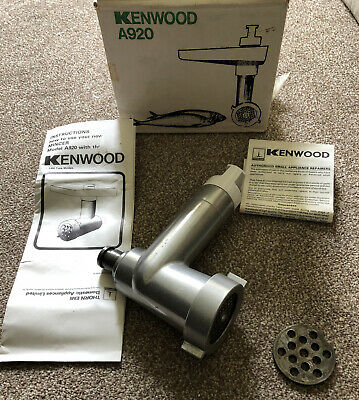 Kenwood Chef Mincer Attachment A920, For Use With Chef A901