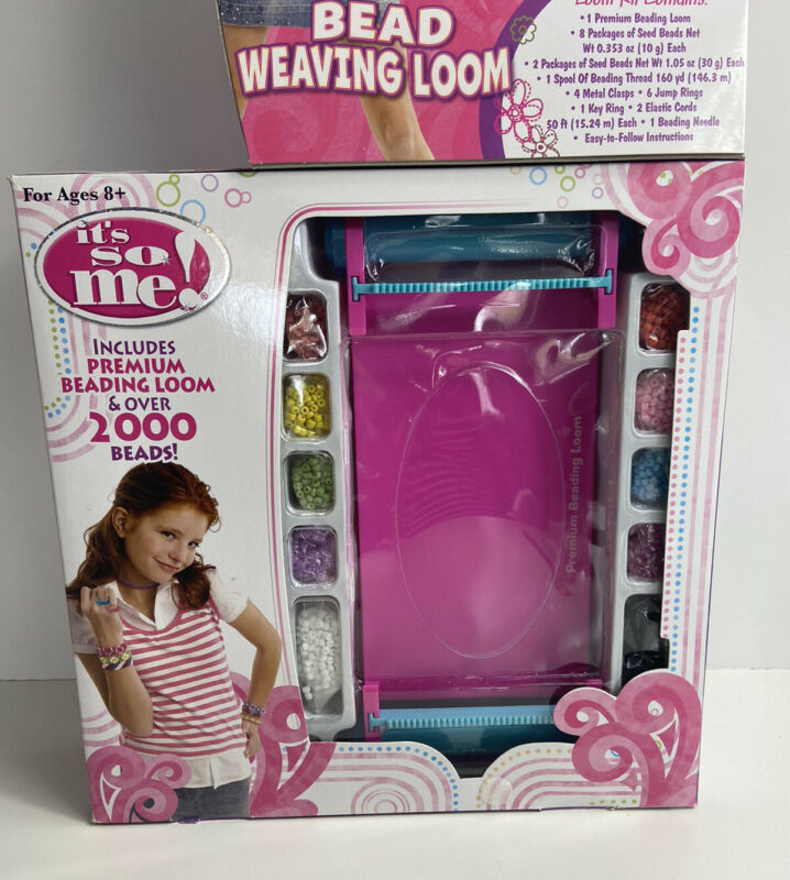 NEW Darice Bead Weaving Kit 64 Piece Storage Box Becomes Loom!  1100-99