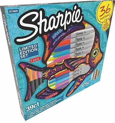 Sharpie Limited Edition Set 39 Ct Permanent Markers Pens Coloring Pages