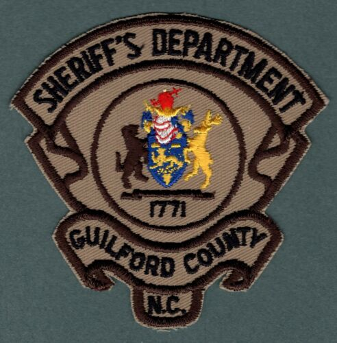 Guilford County North Carolina Sheriff Police Patch