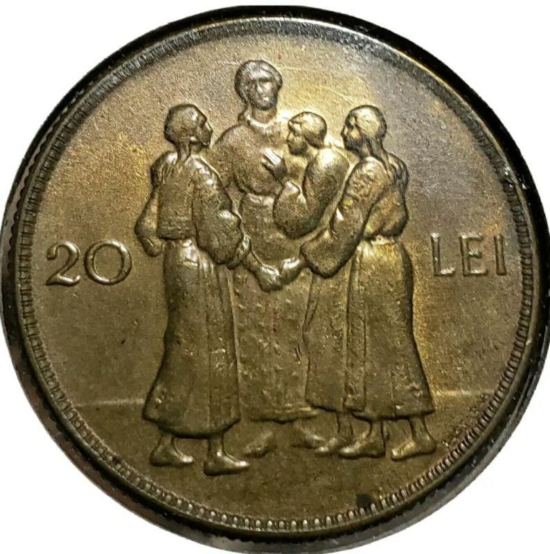 1930  Romania 20 Lei UNC