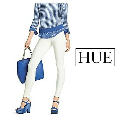 Pantacollant Leggings Leggins donna Jeans Bianco con tasche marca HUE misure S-M