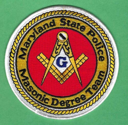 MARYLAND STATE POLICE MASONIC LODGE PATCH